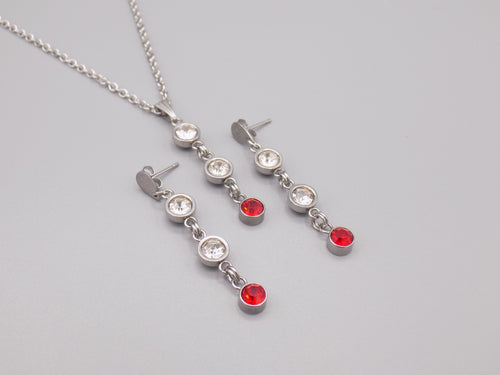 July Birthstone Necklace & Earring Set