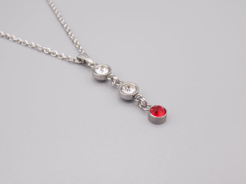 July Birthstone Pendant Necklace