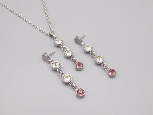 June Birthstone Necklace & Earring Set