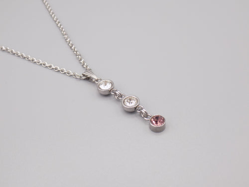 June Birthstone Pendant Necklace