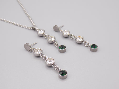 May Birthstone Necklace & Earring Set