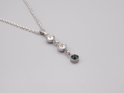 May Birthstone Pendant Necklace