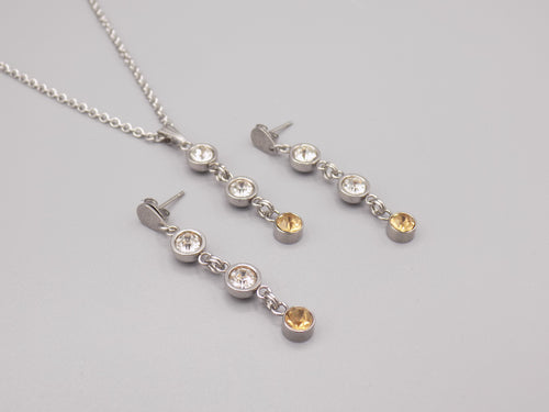 November Birthstone Necklace & Earring Set