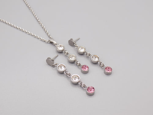 October Birthstone Necklace & Earring Set
