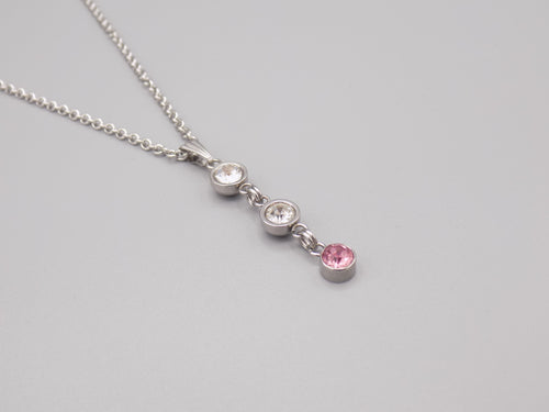 October Birthstone Pendant Necklace
