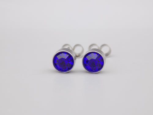 September Birthstone Stud Earrings