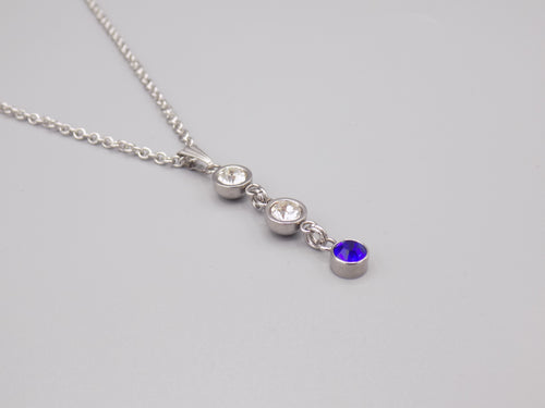 September Birthstone Pendant Necklace