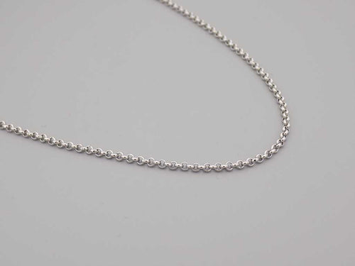 Stainless Steel Rolo Chain Necklace, Mens Necklace, Womens Necklace, Silver Chain Necklace, Gift Ideas - TrendyStreetJewelry