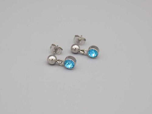 Stud March Earrings - TrendyStreetJewelry