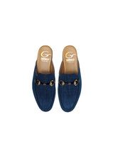 Load image into Gallery viewer, Slipper in Denim with Black Details