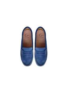 Penny Loafer in Blue Suede
