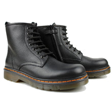 Load image into Gallery viewer, Ankle Boots in black elk leather