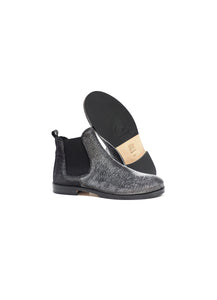 chelsea boot in black lurex