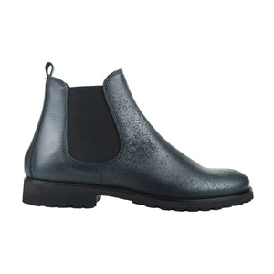 Chelsea boot in navy vintage calf leather
