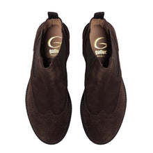 Load image into Gallery viewer, Brogues chelsea boots in brown suede