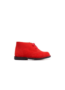 desert boot in red suede