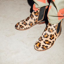 Load image into Gallery viewer, Chelsea Boots in Animalier Leather