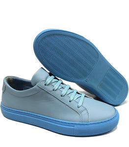 Pale blue sneakers
