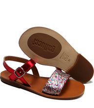 Load image into Gallery viewer, Glitter party sandals