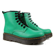 Load image into Gallery viewer, Ankle Boots in matt green calf