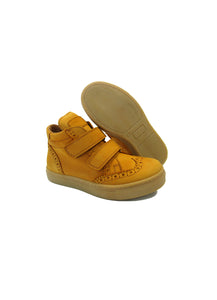 Brogue High-Top Sneakers in Dark Yellow Nabuk