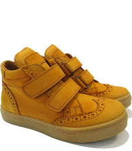 Load image into Gallery viewer, Brogue High-Top Sneakers in Dark Yellow Nabuk