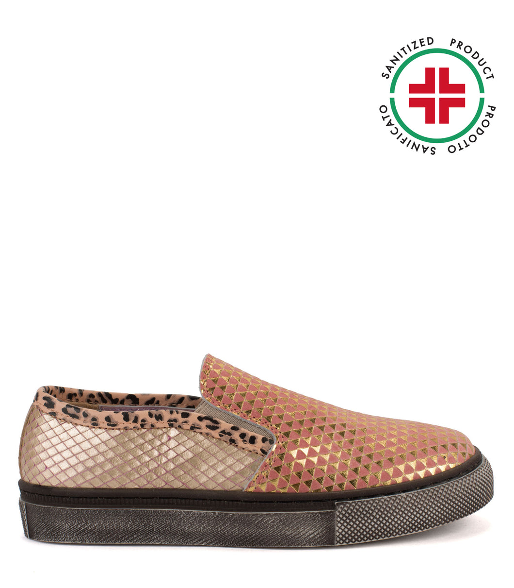 Multicolor leather slip-on
