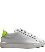 Load image into Gallery viewer, White leather sneakers with fluo details