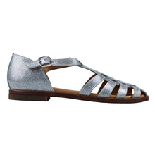 Load image into Gallery viewer, Sandals in silver leather