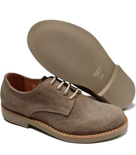 Load image into Gallery viewer, Natural derby in taupe suede