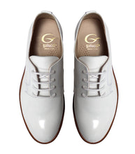 Load image into Gallery viewer, White derby in patent leather