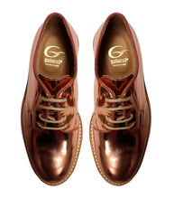 Load image into Gallery viewer, Metallic derby in calf leather and contrast stitching