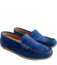 Load image into Gallery viewer, Penny Loafer in Blue Suede