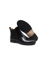 Load image into Gallery viewer, Chelsea Boots in Black Crocodile Effect Leather