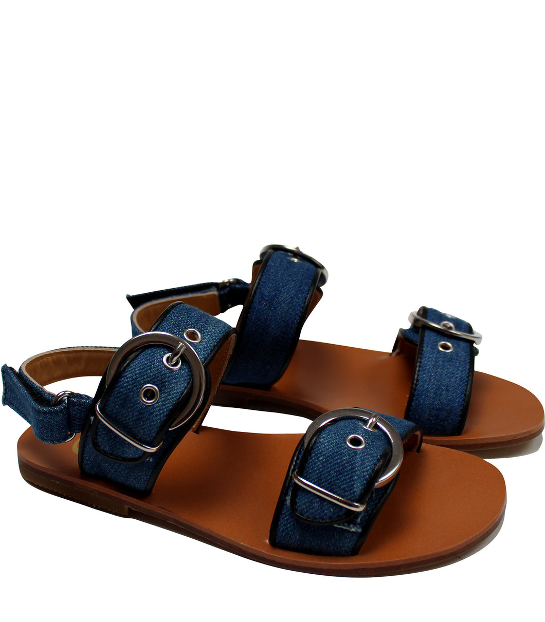 Iconic denim sandals