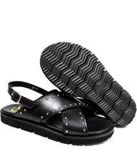 Load image into Gallery viewer, Black studded sandals