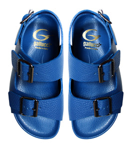 Full blue leather sandals