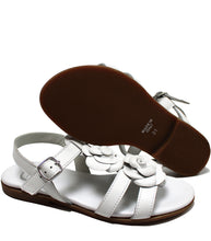 Load image into Gallery viewer, Roses sandals in white calf leather