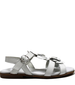 Roses sandals in white calf leather