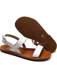 Load image into Gallery viewer, White sandals in calf leather