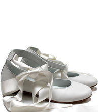Load image into Gallery viewer, White ballerina with laces