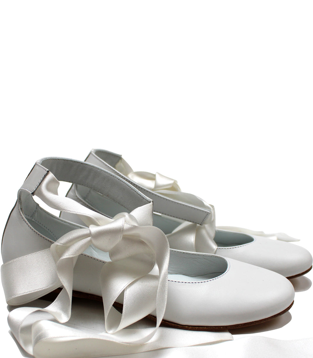 White ballerina with laces