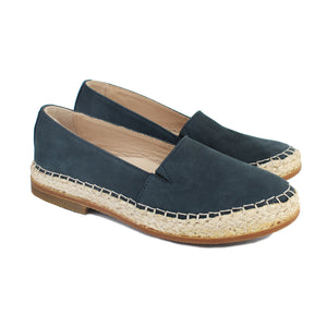 Espadrillas in navy suede with rubber soles