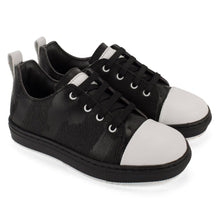 Load image into Gallery viewer, Black and white leather sneakers