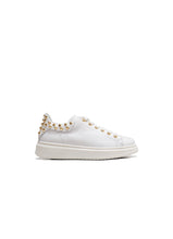 Load image into Gallery viewer, Low-Top Sneakers in Calf Leather with Gold Studs