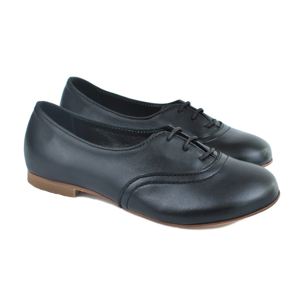 Derby in black calf leather