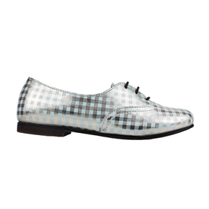 Derby in white/gold checks