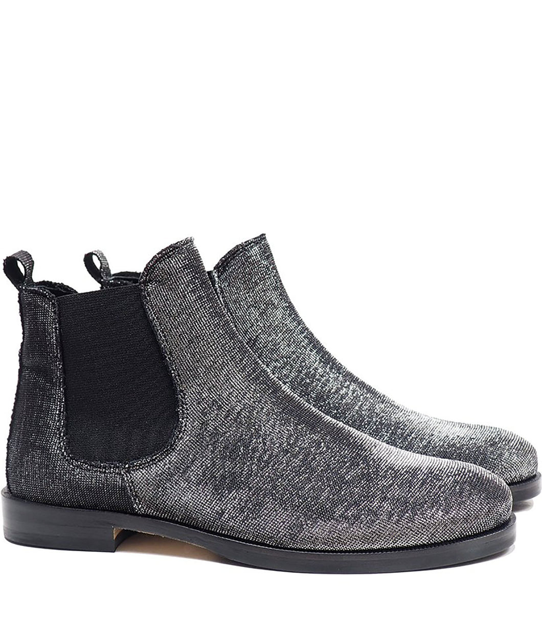 Chelsea boots in black lurex