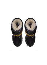 Load image into Gallery viewer, Single Strap Boots in black Technical Fabrics with Fur