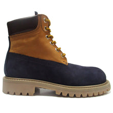 Load image into Gallery viewer, Ankle Boots in blue with yellow details
